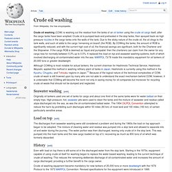 Wikipedia : Crude oil washing