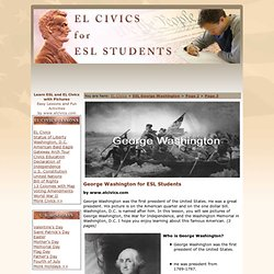 ESL George Washington Activities for Presidents Day
