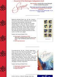 Scripsit, the Washington Calligraphers Guild journal