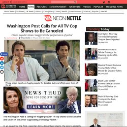 Washington Post Calls for All TV Cop Shows to Be Canceled