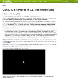 OER K-12 Bill Passes in U.S. Washington State