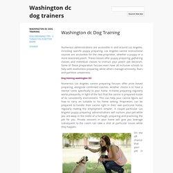 Washington dc Dog Training