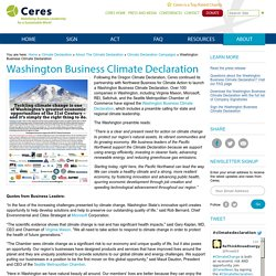 Washington Business Climate Declaration