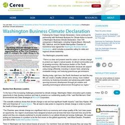 Washington Business Climate Declaration