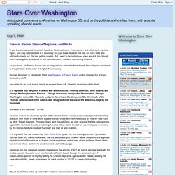 Stars Over Washington: Francis Bacon, Uranus/Neptune, and Pluto