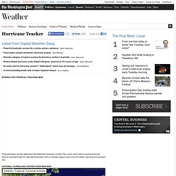 The Washington Post - Hurricane tracker: Weather information, path forecasts and storm tips