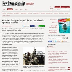How Washington helped foster the Islamist uprising in Mali -- New Internationalist