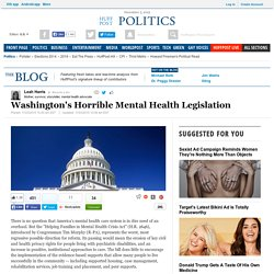 Washington's Horrible Mental Health Legislation