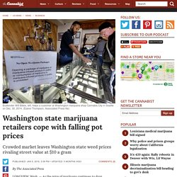 Washington state marijuana retailers cope with falling prices