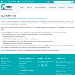 Small Business IT support Washington DC - Orion Network Solutions