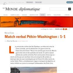 Match (verbal) Pékin-Washington en mer de Chine orientale, par Martine Bulard (Les blogs du Diplo, 30 octobre 2015)