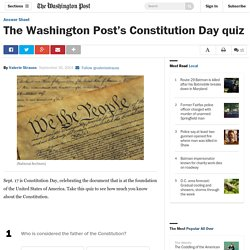 The Washington Post's Constitution Day quiz