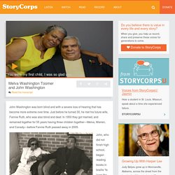 Melva Washington Toomer and John Washington – StoryCorps