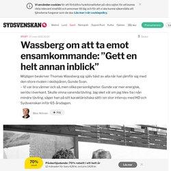 """Wassberg om att ta emot ensamkommande: """"Gett en helt annan inblick"""""""