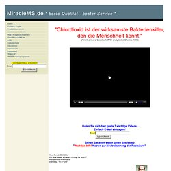 """Natriumchlorit Qualität MMS """"Mineral Mit Sauerstoff"""" - NaClO2, 50%ige Weinsäure-, 5% Salzsäure reinst Ph.Eur., Chlordioxid ClO2 zur Wasserentkeimung - home"""