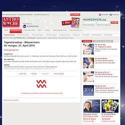 Wassermann Tageshoroskop für morgen - Astrowoche.de