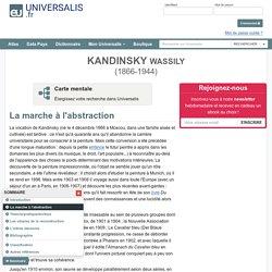 WASSILY KANDINSKY, La marche à l'abstraction