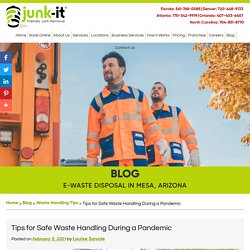 Tips for Safe Waste Handling During a Pandemic