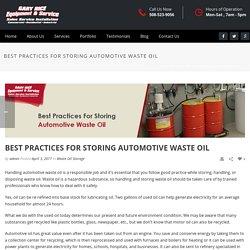 Tips on Waste Oil Management