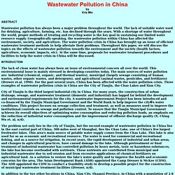 Wastewater Pollution in China