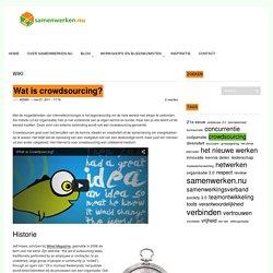 Wat is crowdsourcing - Samenwerken.nu!