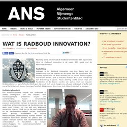 Wat is Radboud Innovation?