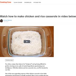 Watch how to make chicken and rice casserole in video below