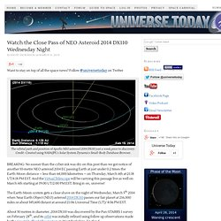 Watch the Close Pass of NEO Asteroid 2014 DX110 Wednesday Night