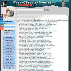 Watch and Download Free Classic Movies from the 1940s