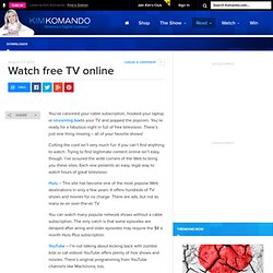 Watch free TV online