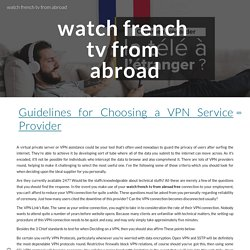 watch french tv from abroad