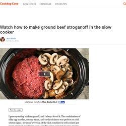 Ground beef stroganoff slow cooker