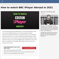 How to watch BBC iPlayer outside UK? The ultimate guide for 2020