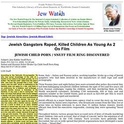 Jewish Atrocities - Blood Libel