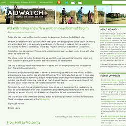 Aid Watch | just asking that aid benefit the poor