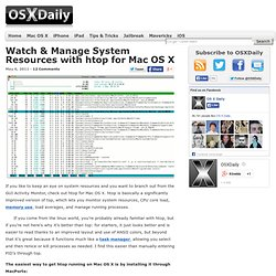 Watch & Manage System Resources with htop for Mac OS X