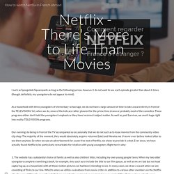 How to watch Netflix in French abroad