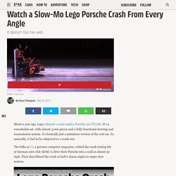 Watch a Slow-Mo Lego Porsche Crash From Every Angle