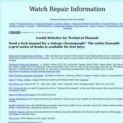 Watch Repair Information