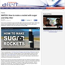 How to make a rocket with sugar and kitty litter
