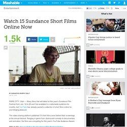 Watch 15 Sundance Short Films Online Now