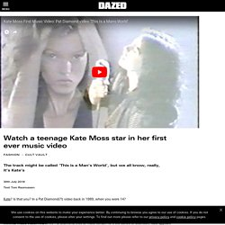 Watch a teenage Kate Moss star in her first ever music video