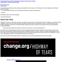 Watch the Film - Highway of Tears