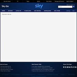 Watch TV Online | Sky Go