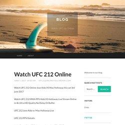 Watch UFC 212 Online