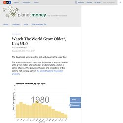 Watch The World Grow Older*, In 4 GIFs : Planet Money