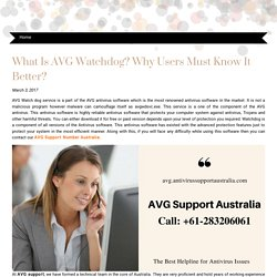 What Is AVG Watchdog? Why Users Must Know It Better?