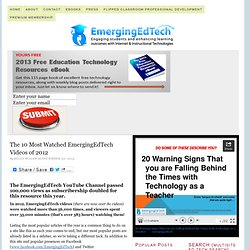 The 10 Most Watched EmergingEdTech Videos of 2012