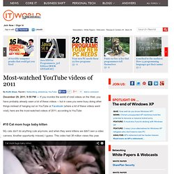 Most-watched YouTube videos of 2011