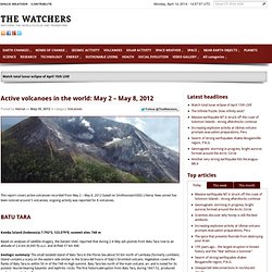 Active volcanoes in the world: May 2 – May 8, 2012